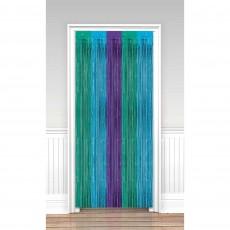Sparkling Sapphire Metallic Door Decoration