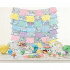 Pastel Party Fringe Decorating Backdrop Misc Decorations