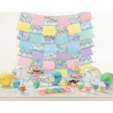 Pastel Party Party Decorations - Fringe Decorating Backdrop