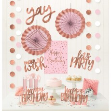 Blush Birthday Room Decorating Kits