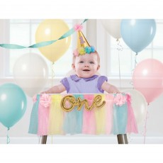 Girl's 1st Birthday Party Decorations - Deluxe High Chair