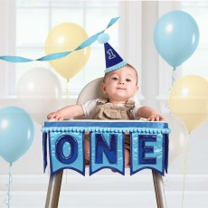 Boy's 1st Birthday Party Decorations - Deluxe High Chair