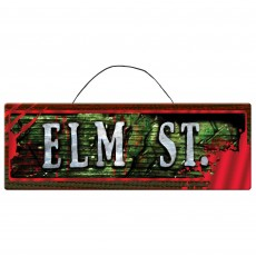 Halloween Party Decorations - Nightmare on Elm Street Sign