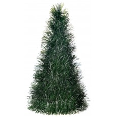 Christmas Small Tinsel Pine Look  Tree Centrepiece