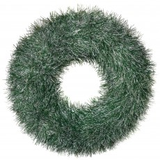 Christmas Party Decorations - Door Decoration Tinsel Pine Look Wreath