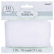 White Wired Ribbon