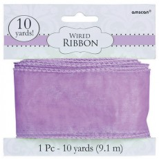 Lilac Wired Ribbon