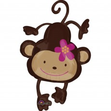 Monkey Love Party Decorations - Shaped Balloon SuperShape XL