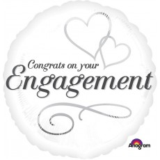 Engagement Two Hearts Foil Balloon