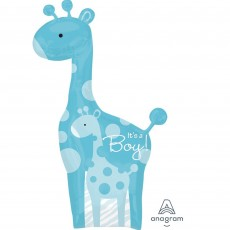 Baby Shower - General SuperShape XL Safari Baby It's a Boy! Shaped Balloon 64cm x 107cm