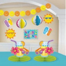 Hawaiian Luau Fun In The Sun Decorating Kit