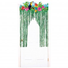 Hawaiian Luau Summer Luau Tropical Birds Door Decoration