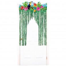 Hawaiian Summer Luau Tropical Birds Door Decoration