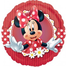 Round Minnie Mouse Mad about Minnie Standard HX Foil Balloon 45cm