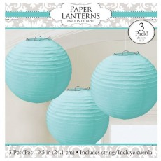 Blue Robin's Egg  Lanterns