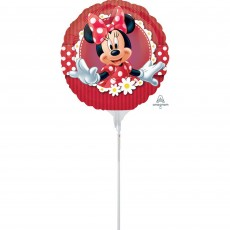 Round Minnie Mouse Mad about Minnie Foil Balloon 22cm