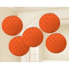 Orange Peel Mini Paper Lanterns 12.7cm Pack of 5