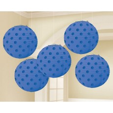 Blue Bright Royal Mini Paper Lanterns