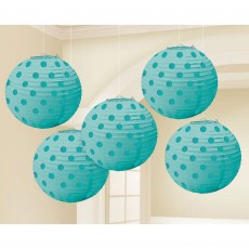 Blue Robin's Egg Mini Paper Lanterns