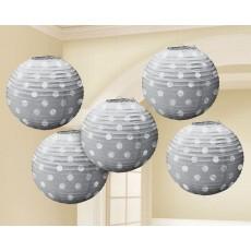 Silver Mini Paper Lanterns
