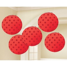 Red Apple Mini Paper Lanterns