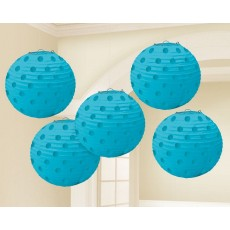 Blue Caribbean Mini Paper Lanterns