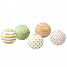 Pastel Celebration Mini Paper Lanterns
