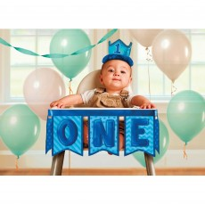 Boy's 1st Birthday High Chair Decorating Kit