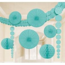 Blue Robin's Egg Damask Decorating Kit
