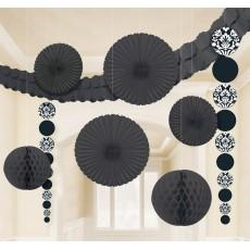 Wedding Black & White Damask Decorating Kit