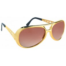 Casino Night Fun Shades Vegas Gold Rim Glasses Costume Accessorie