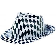 Black & White Classic 50s Fedora Hat Head Accessorie