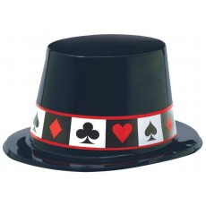 Casino Night Place Your Bets Top Hat Costume Accessorie