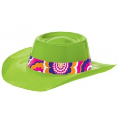 Feeling Groovy & 60's Lime Cowboy Hat Head Accessorie
