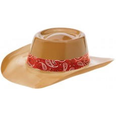 Bandana & Blue Jeans Brown Western Plastic Cowboy Hat Head Accessorie