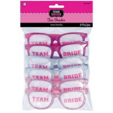 Hens Night Assorted Team Bride Fun Shades Glasses Costume Accessories