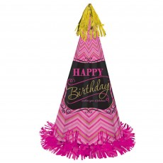 Fabulous Birthday Pink Cone Hat Costume Accessorie