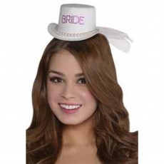Bachelorette Elegant Bride Mini Clip-on Hat Head Accessorie
