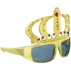 Gold Fun Shades King's Crown Glasses Head Accessorie