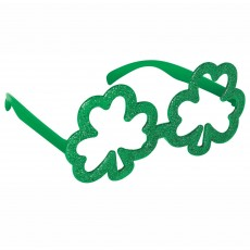 St Patrick's day Shamrock Shaped Glittered Glasses Head Accessorie