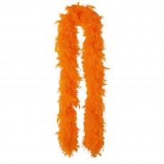 Orange Feather Boa Costume Accessorie