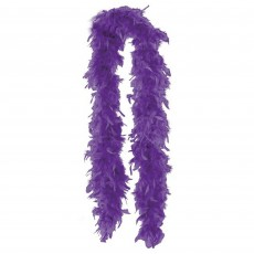 Purple Feather Boa Costume Accessorie