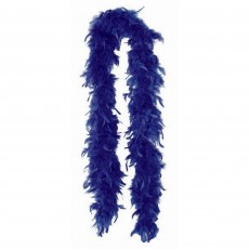 Blue Navy Feather Boa Costume Accessorie