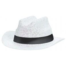 Cowboy & Western Mini Glitter White Cowboy Hat Head Accessorie