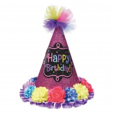 Happy Birthday Birthday Chic Mini Glitter Paper Hat Head Accessorie