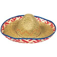 Mexican Fiesta Sombrero Straw Hat Head Accessorie