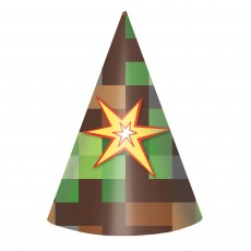 Minecraft TNT Cone Party Hats 15cm Pack of 8