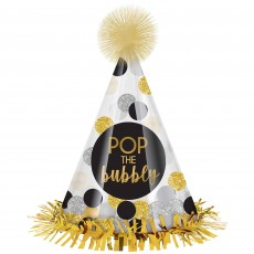 New Year Cone Pop the Bubbly! Party Hat 26cm