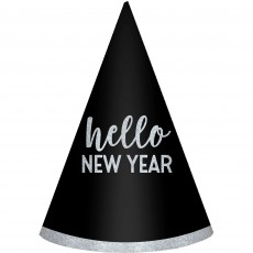 New Year Assorted Colours Cone Party Hats