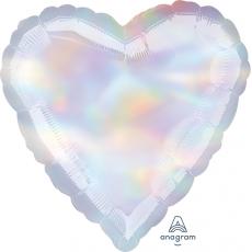 Heart Iridescent Standard Holographic Shaped Balloon 45cm